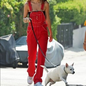 Red Dickies Overalls